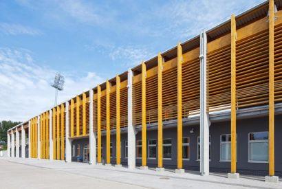 Zadaszenie trybun Stadionu w Kołobrzegu
