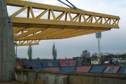 Zadaszenie trybun w Szczecinie